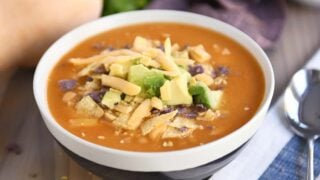 The Best Chicken Enchilada Soup