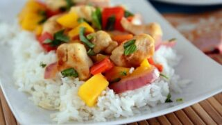 Chicken and Mango {Or Pineapple} Basil Stir Fry