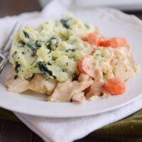 Chicken Shepherd's Pie with Garlic-Kale Mash