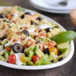 Chicken Taco Salad {InstantPot, Slow Cooker, or Stovetop}