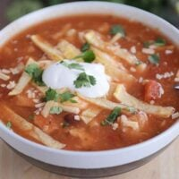 Chicken Tortilla Soup {Instant Pot, Stovetop, Slow Cooker}