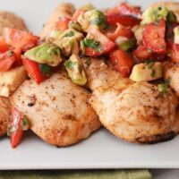 Grilled Chili-Lime Chicken with Strawberry Avocado Salsa