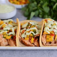 Chili Lime Tacos with Mango Salsa {Grilled or Pressure Cooker}