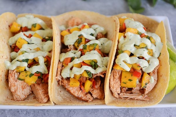 Chili Lime Tacos with Mango Salsa