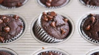 Double Chocolate Banana Blender Muffins {Gluten-Free}