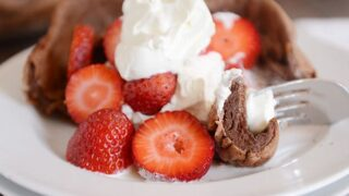 Chocolate Dutch Baby {i.e. German Pancake!}