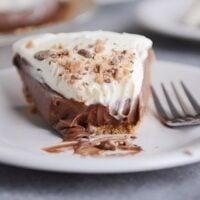 Chocolate Cream Pie with Graham Cracker Crust