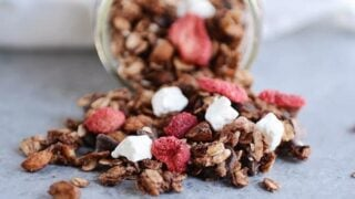 Dark Chocolate Granola + Valentine's Twist