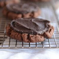 Chocolate Frosted Swig-Style Cookies