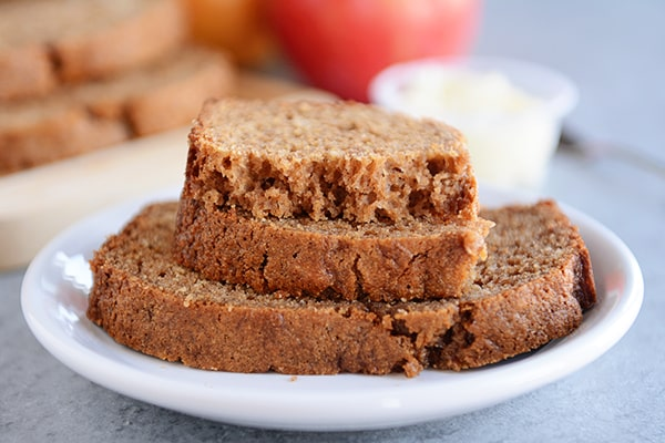 Whole Grain Cinnamon Applesauce Bread