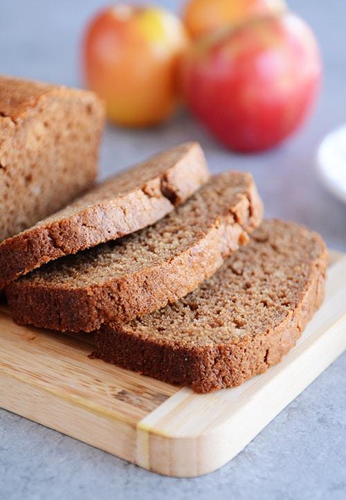 Whole Grain Cinnamon Applesauce Bread