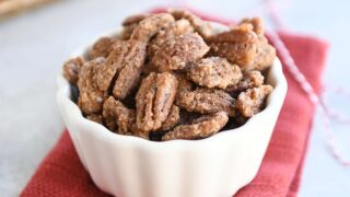 Easy Cinnamon and Sugar Candied Pecans
