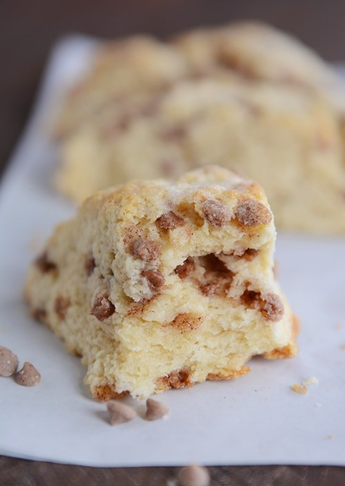 Amazing Cinnamon Chip Buttermilk Scones