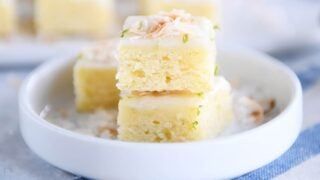 Little Toasted Coconut Lime Bars