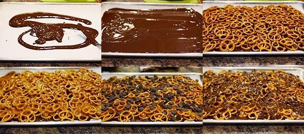 Dark Chocolate Sea Salt Caramel Pretzel Bark
