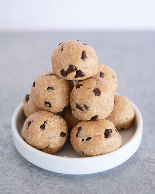 No-Bake Cookie Dough Bites - Gluten-Free, Egg-Free, Dairy-Free, Vegan