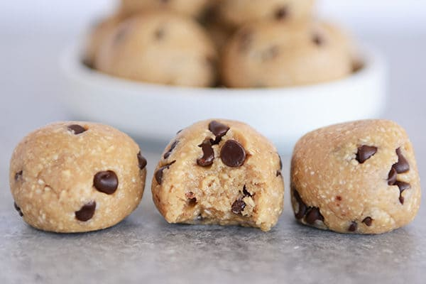 No-Bake Cookie Dough Bites - Gluten-Free, Egg-Free, Dairy-Free, Vegan