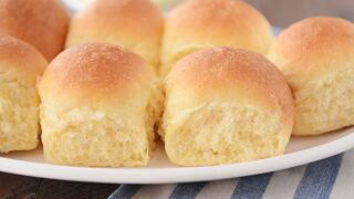 Buttery Fluffy Cornmeal Dinner Rolls