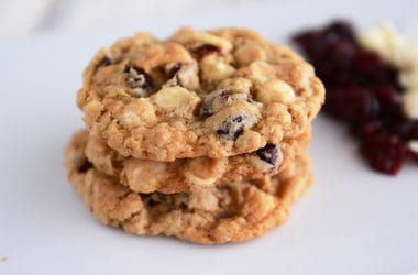 White Chocolate Coconut Oatmeal Craisin Cookies