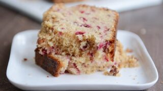 Streusel-Topped Cranberry White Chocolate Bread