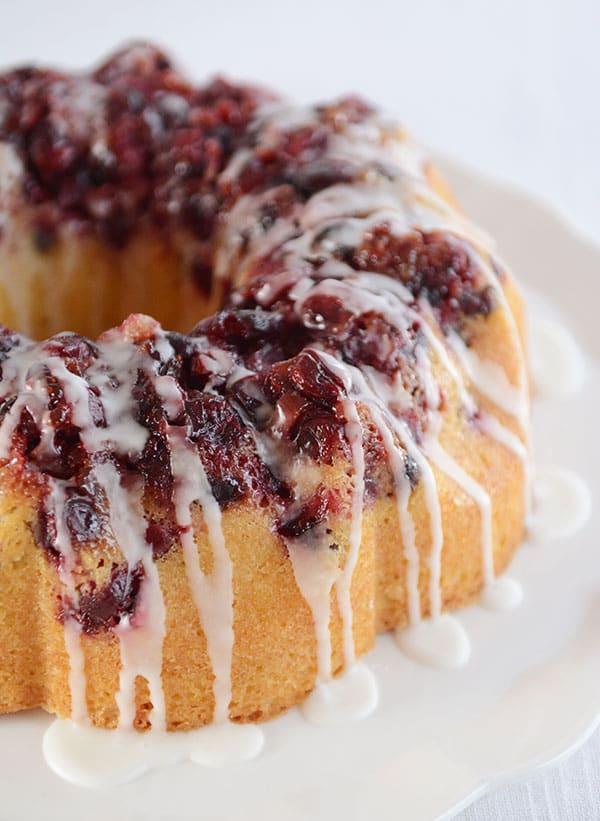 Glazed Cranberry Lemon Cake | Mel's Kitchen Cafe