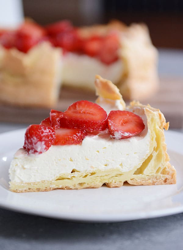Strawberry Cream Puff Cake
