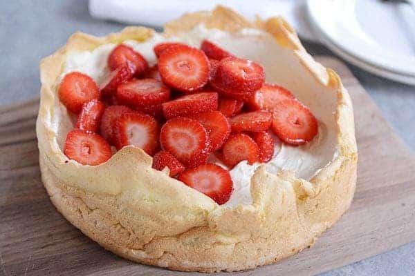 Strawberry Cream Puff Cake