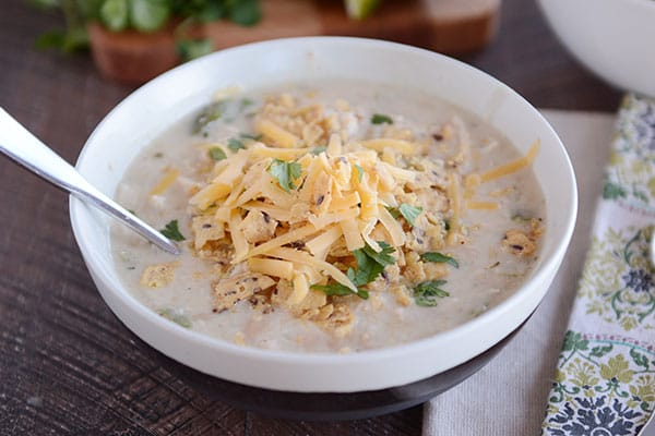 Creamy White Chicken Chili Slow Cooker Or Stovetop Mel S Kitchen Cafe