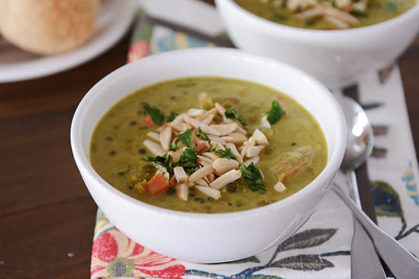 Curried Lentil Soup with Toasted Almonds