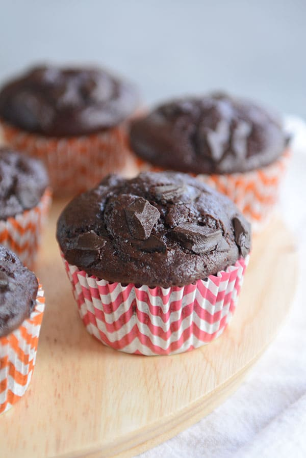 Double Chocolate Chunk Muffins