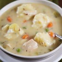 Chicken and Vegetable Dumpling Soup