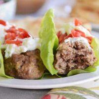 Falafel Meatball Wraps with Tzatziki Sauce