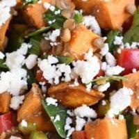 Roasted Sweet Potato Lentil Salad