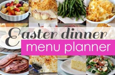 Easter Dinner Menu Planner