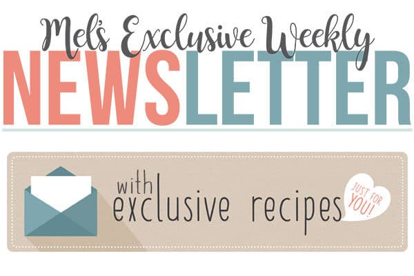 Mel's Exclusive Newsletter