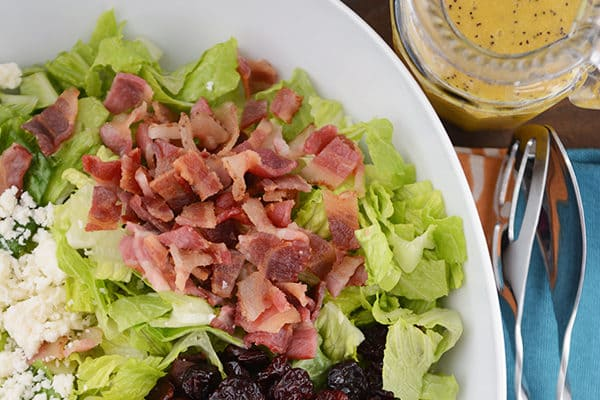 Best Romaine Salad with Sweet Mustard Vinaigrette