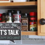 Let's Talk: What's in My Spice Cabinet {New Series + Printable}
