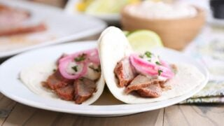 Steak Fajitas with Chipotle Sour Cream