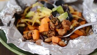 Foil Packet Sweet Potato Tacos