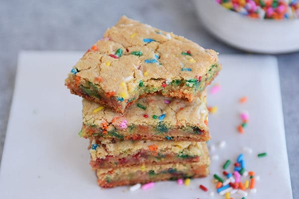 Funfetti Blondie Bars {From-Scratch}