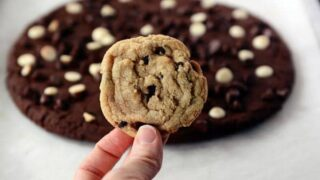 Giant Double Chocolate Cookie