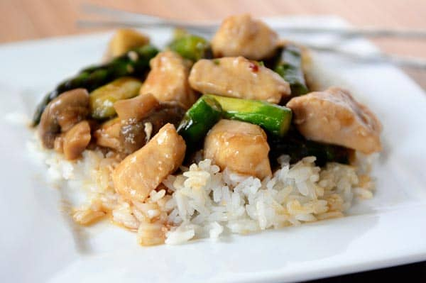 Healthy Chicken and Asparagus Stir-Fry