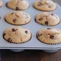 Quick Blender Banana Chocolate Chip Muffins {Gluten-Free}