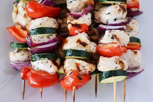 Grilled Greek Chicken Kebabs