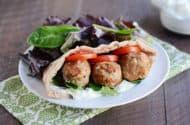 Greek Meatball Stuffed Pita