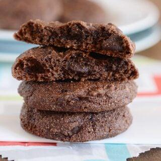 Double Chocolate Greek Yogurt Cookies