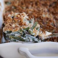 From-Scratch Green Bean Casserole with Extra Crunchy Topping