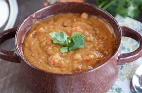 Hearty Lentil Soup with Lemon {Instant Pot or Stovetop}