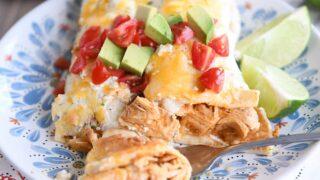 Honey Lime Chicken {or Pork} Enchiladas