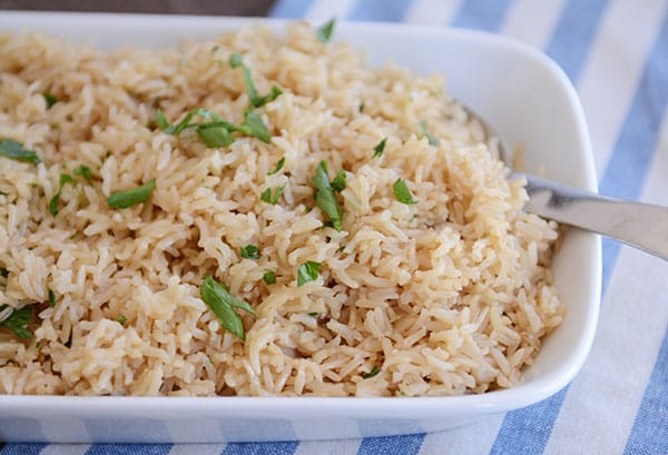 InstantPot Perfect Brown Rice Pilaf | Mel's Kitchen Cafe